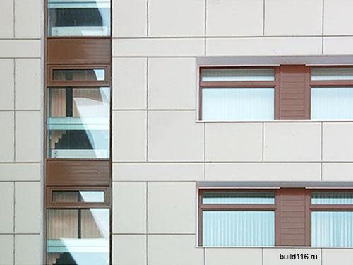 Мотаж вентилируемых фасадов в Казани